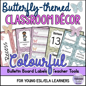CLASSROOM SET UP DECOR Labels Posters Forms (Butterfly theme)