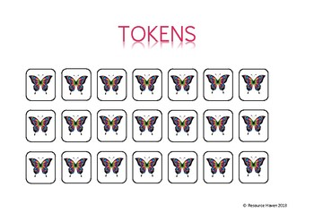 BUTTERFLY THEMED REWARD CHARTS
