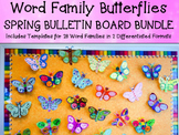 BUTTERFLY WORD FAMILIES Spring Bulletin Board Writing Cent