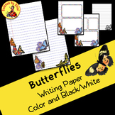 BUTTERFLY WRITING PAPER Creative, Stations, Letters, Lab Reports, Class Decor