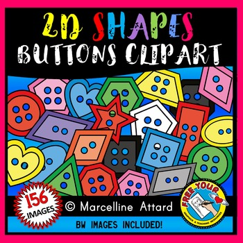 BUTTON SHAPES CLIPART: 2D SHAPES BUTTONS CLIPART