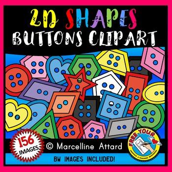 BUTTON SHAPES CLIPART: 2D SHAPES BUTTONS CLIPART