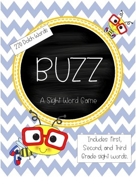 BUZZ Sight Word Game - 220 Dolch Words, K-3