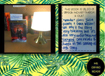 BW CLASSROOM LIBRARY BOOKMARK RECOMMENDATIONS