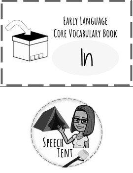 BW Early Language Core Vocabulary Book: In