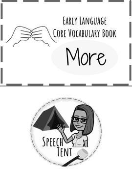 BW Early Language Core Vocabulary Book: More