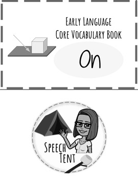 BW Early Language Core Vocabulary Book: On