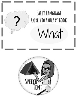 BW Early Language Core Vocabulary Book: What