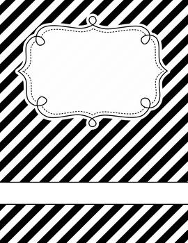 B&W Editable Binder Covers Set