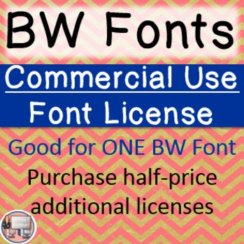 BW Font Commercial Use License - Single License