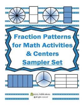B&W Fraction Patterns Sample Set