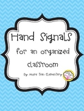 B&W Hand Signals Posters for Classroom Management