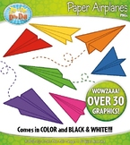 Rainbow Paper Airplane Clipart {Zip-A-Dee-Doo-Dah Designs}