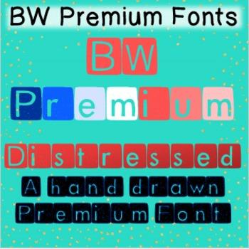 BW Premium Distressed Font