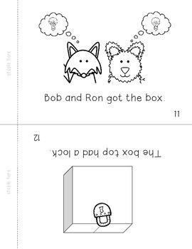 B&W Short Vowel Decodable Booklets