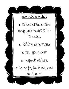 B&W THEME - Basic Class Rules