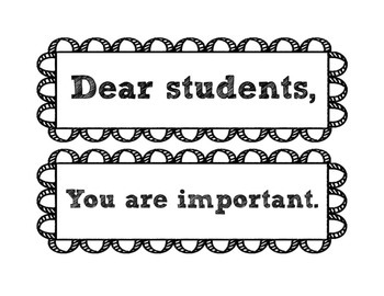 B&W THEME - Dear Students...