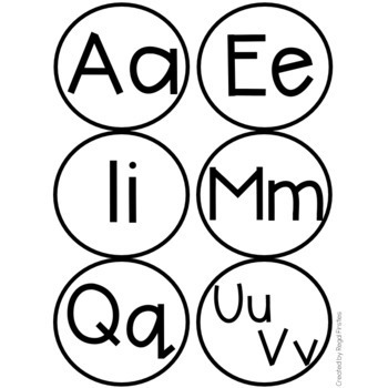 BW Word Wall Alphabet Labels