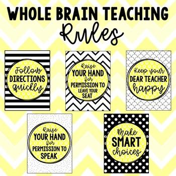 BW + Yellow Whole Brain Teaching Rules