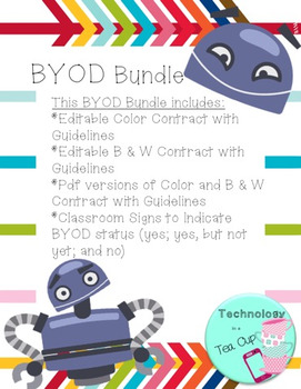 BYOD Bundle (Contract w/Guidelines & Classroom Signs)