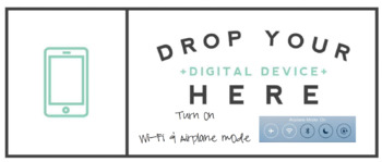BYOD Device Drop Sign