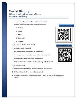 BYOD assignment - Life on an Exploration Age Ship