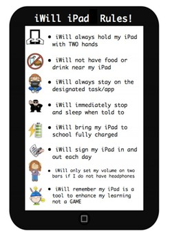 BYOD iPad Rules - cute printable