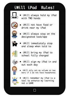 BYOD iPad Rules - cute printable