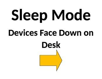 BYOT Sleep Mode Sign