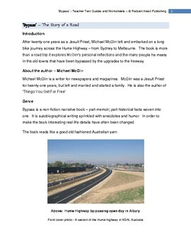 BYPASS-STORY OF A ROAD - McGirr-Teacher Text Guides and Worksheets