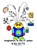 Multiple Intelligences:  BYTES Power Smarts® Character Poster #1 - 8-BIT BYTE