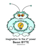 Multiple Intelligences:  BYTES Power Smarts® Character Poster #10 - Beast BYTE