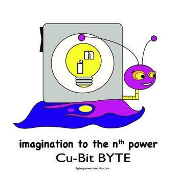 BYTES Power Smarts®:  Character Poster #7 - Cu-Bit BYTE