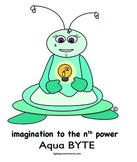 Multiple Intelligences:  BYTES Power Smarts® Character Poster #9 - Aqua BYTE