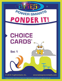 Multiple Intelligences:  PONDER IT! CHOICE CARDS® - SET 1