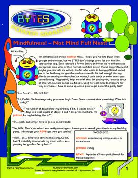 BYTES Power Smarts®:  Story #13: Mindfulness! Not Mind Full Nest!