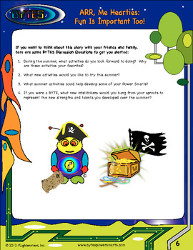 BYTES Power Smarts: Story #8 - ARR, Me Hearties: Fun Is Important Too!