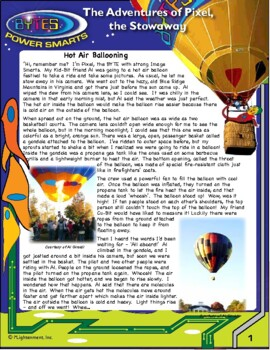 BYTES Power Smarts®: The Adventures of Pixel, the Stowaway,#2-Hot Air Ballooning