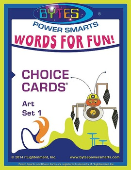 Multiple Intelligences:  WORDS FOR FUN! CHOICE CARDS® - ART - SET 1