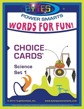 Multiple Intelligences:  WORDS FOR FUN! CHOICE CARDS® - SCIENCE - SET 1