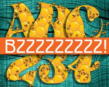 BZZZZZ! Honeycomb & Bees Alphabet -  240 DPI - PDF/ 1PNGs
