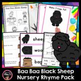 Baa Baa Black Sheep Nursery Rhyme
