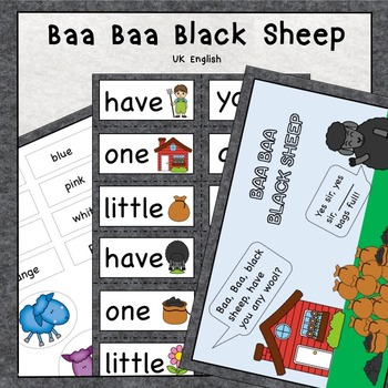 Baa Baa Black Sheep Nursery Rhyme Pack AUS UK