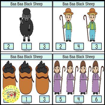 Baa Baa Black Sheep Task Cards