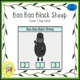 Baa Baa Black Sheep Count and Clip Task Cards