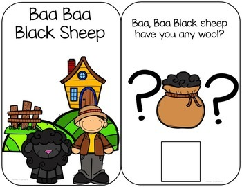 Baa Baa Black Sheep Interactive Book and Questions