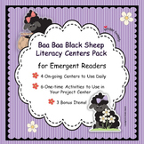 Baa Baa Black Sheep Nursery Rhyme Literacy Centers for Emergent Readers