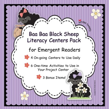Baa Baa Black Sheep Nursery Rhyme Literacy Centers for Eme