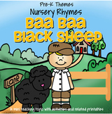 Baa Baa Black Sheep Literacy & Math Centers, Activities & Printables Preschool