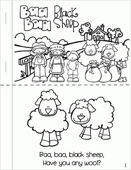 Baa Baa Black Sheep - Literacy & Math for Early Learners